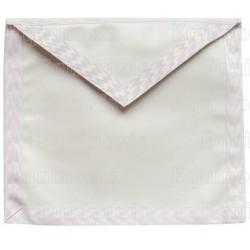 Tablier maçonnique en simili cuir – Aprendiz / Compañero – 37 cm x 40 cm